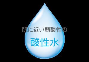 肌に近い弱酸性の酸性水
