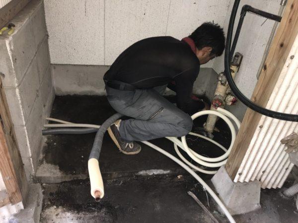 【宮崎県都城市 N様邸】エコキュート工事