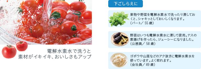 2.新鮮野菜をよりおいしく!