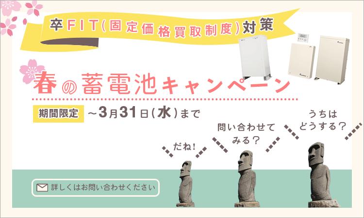 【期間限定】春の蓄電池キャンペーン ~3月31日(水)まで